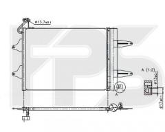 Радиатор кондиционера для SEAT / SKODA / VW (FPS) FP 64 K221