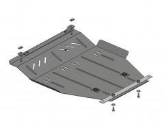 Защита картера двигателя и КПП, радиатора для Geely MK Cross '06-, V-1,5, МКПП/сборка Украина (Кольчуга)
