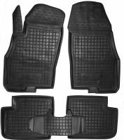 Коврики в салон для Fiat Punto '00-11 резиновые, черные (AVTO-Gumm)