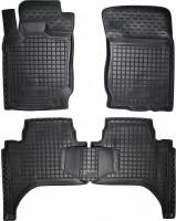 Коврики в салон для Mitsubishi L200 / Triton '13-15, длинная база, резиновые, черные (AVTO-Gumm)