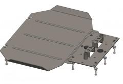 Кольчуга Защита картера АКПП для Mitsubishi L200 '06-15, V-все (Кольчуга)