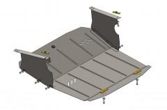 Фото 1 - Защита картера двигателя и КПП, радиатора для Renault Master '98-10, V-3,0 DCI с кондиционером (Кольчуга)