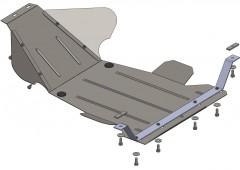 Защита картера двигателя и КПП, радиатора для ВАЗ Нива-2121, 10-, V-1,7 i (Кольчуга)