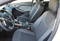 Авточехлы Dynamic для салона Ford Focus III '11-, седан серая строчка (MW Brothers)