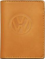 """Обложка для документов светло-коричневая """"Volkswagen"""""""