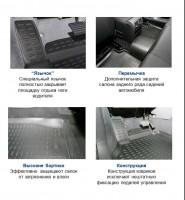 Фото 2 - Коврики в салон 3D для Kia Sportage '10-15 полиуретановые (Novline)