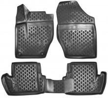 Novline Коврики в салон 3D для Citroen DS4 '11- полиуретановые, черные (Novline)