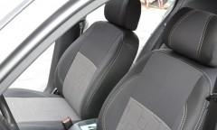 Авточехлы Premium для салона Daewoo Lanos серая строчка (MW Brothers) с отдельными задними подголовниками