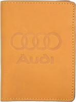 """Обложка для документов светло-коричневая """"Audi"""""""