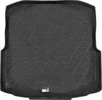 L.Locker Коврик в багажник для Skoda Octavia A7 '13- седан (с органайзером), резино/пластиковый (Lada Locker)