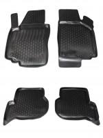 Коврики в салон для Seat Altea XL / Freetrack '07- полиуретановые, черные (L.Locker)