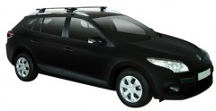 Багажник на рейлинги для Renault Megane '08-16 универсал, сквозной (Whispbar-Prorack)