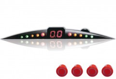 Парктроник ParkCity Ultra Slim NEW 418/110 LW с датчиками красного цвета (4 датчика)