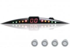 Парктроник ParkCity Ultra Slim NEW 418/110 LW с датчиками серебристого цвета (4 датчика)