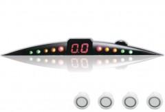 Парктроник ParkCity Ultra Slim NEW 418/110 LW с датчиками белого цвета (4 датчика)