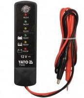 Тестер напряжения аккумуляторов Yato YН-83101