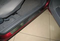 Накладки на пороги для Daewoo Nexia '94-99 (Premium)