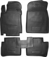 Коврики в салон для Nissan Tiida '05- резиновые, черные (AVTO-Gumm)