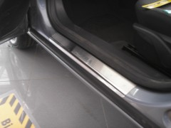 Накладки на пороги для Opel Astra H '04-15, (Premium)