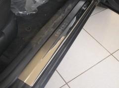 Накладки на пороги для Skoda Superb '01-08 (Premium)