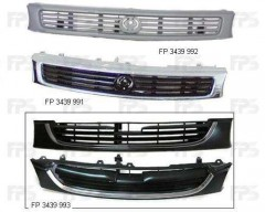 Решетка радиатора для Mazda 626 '92-97 (GE) темно серая (Tempest)