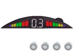 Парктроник Falkon 2611 с датчиками серебристого цвета (4 датчика)