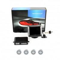 Парктроник Galaxy PS4-02A TFT с датчиками черного цвета (4 датчика+камера)