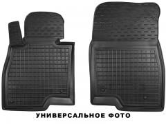 Коврики в салон передние для Toyota Avensis '08-15 резиновые, черные (AVTO-Gumm)