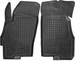 Коврики в салон передние для Fiat Linea '07-15 резиновые, черные (AVTO-Gumm)