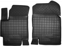 Коврики в салон передние для Hyundai Accent '06-10 резиновые, черные (AVTO-Gumm)