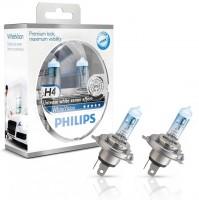 ������������� �������� Philips WhiteVision H4 12V 60/55W (��������: 2��.)