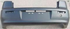 Задний бампер Mitsubishi Lancer X (10) '07- Седан, черный, без парктроника (FPS)