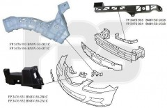 Крепеж переднего бампера Mazda 3 '04-09 Седан, правый, пластмас., 3 см. рис. (FPS)