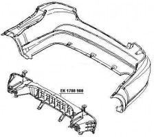 Шина заднего бампера Chevrolet Aveo '06-11 (Tempest)