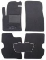 Коврики в салон для Ford Fiesta '02-09 текстильные, серые (Люкс)