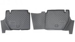Коврики в салон для Citroen Berlingo '08- задние, авто пасс. 4 двери, полиуретановые (Nor-Plast)