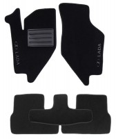 Коврики в салон для Lada (Ваз) Granta 2190 '11- текстильные, черные (Люкс)