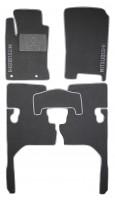 Коврики в салон для Mitsubishi L200 / Triton '10-15 текстильные, серые (Люкс)