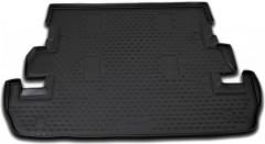 Коврик в багажник для Toyota Land Cruiser 200 '07- (7 мест), полиуретановый (Novline) черный