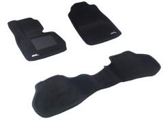 Коврики в салон для BMW X3 F25 '10-17 текстильные 3D чёрные (3D Mats)