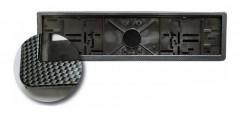 Рамка номера пластиковая LA 170301 чёрная