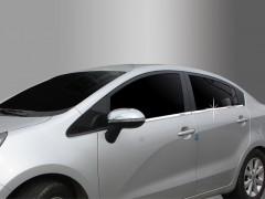 Накладки на двери для Kia Rio '11-15 седан, 4 шт. (Хром) 4 шт.