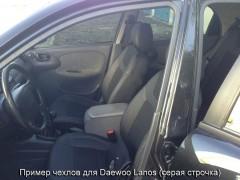 Авточехлы Dynamic для салона Daewoo Lanos красная строчка (MW Brothers) с отдельными задними подголовниками