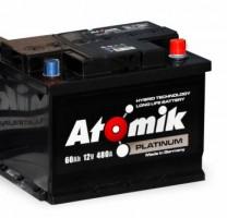 Автомобильный аккумулятор Atomik 60 Ач, правый плюс
