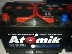Автомобильный аккумулятор Atomik 74 Ач, правый плюс