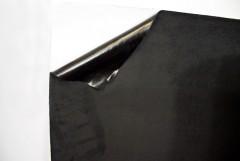 Чёрная самоклеющаяся замша на тканевой основе