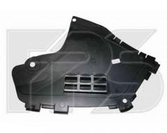 Защита бампера передняя Renault Logan '04-12, правая (FPS)