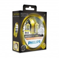 ������������� �������� Philips ColorVision Yellow H4 60/55W 12V (��������: 2��.)