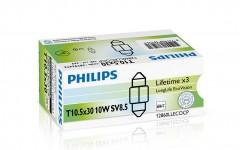 ������������� �������� Philips LongLife EcoVision T10,5x30 (C10W) 10W 12V