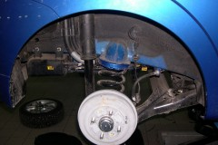 Подкрылок задний левый для Chevrolet Aveo (T250) '04-06, седан (Novline)